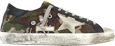 Golden Goose Scarpe Sneakers Uomo Vintage Superstar G36MS590.T81 Camouflage Verde Marrone