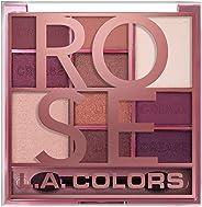 L.A Color Block 10 Color Eyeshadow Palette, Rose, 20 g