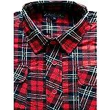 Dalsa Mens Work Shirts Brushed Cotton Lumberjack Flannel Long Sleeve Check Shirt Free P&P