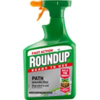 Roundup Path and Drive Ready to Use 1L Spray Weedkiller, Green, 1 L