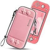 tomtoc Slim Case för Nintendo Switch Lite, originalpatentskydd bärbart bärväska reseförvaring hårt skal med 8 spelkassetter o