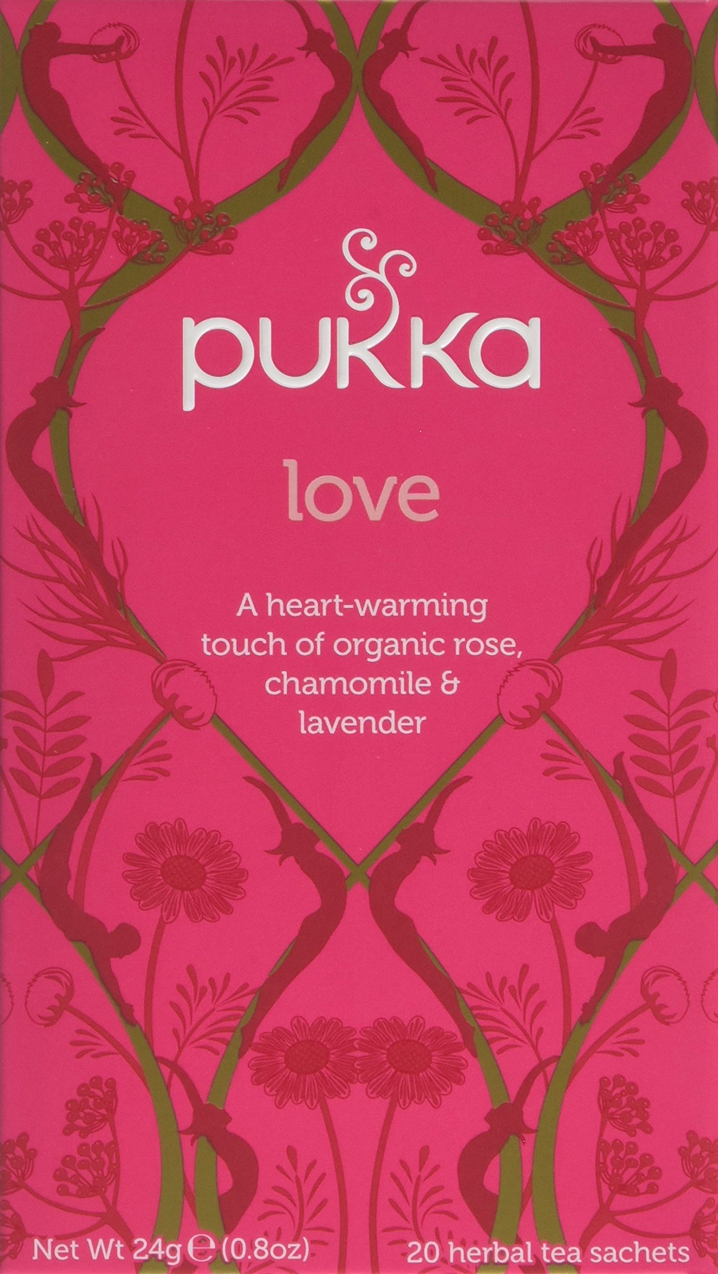 Pukka relax range tea bundle (soil association) (infusions) (4 packs of 20 bags) (80 bags) (a floral tea with aromas of camomile, elderflower, lavender, lime flower, liquorice, marigold) (brews in up to 15 min)