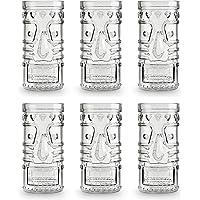 Libbey Verre à cocktail Tiki Mai Tai Cooler - 490 ml / 49 cl - 6 pièces - Vont au lave-vaisselle - Design amusant…