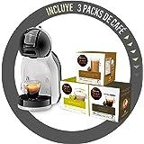 De'Longhi Mini Me Koffiecapsulemachine Dolce Gusto voor Espresso met 3 Koffieverpakkingen, EDG155.BG, 0,8 L, Zwart, Grijs