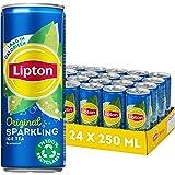 Lipton Original Ice Tea Sparkling een heerlijk verfrissende ijsthee - 24 x 250 ml - Voordeelverpakking