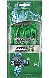 Wilkinson - Extra 3 Sensitive - Rasoirs jetables masculins - Lot de 8