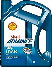 Shell Advance AX7 15W-50 API SM Semi Synthetic Engine Oil (3 L)