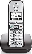 Gigaset E310 Telefon - Schnurlostelefon / Mobilteil - Grafik Display - Grosse Tasten Telefon - Freisprechfunktion - Analog Telefon - schwarz