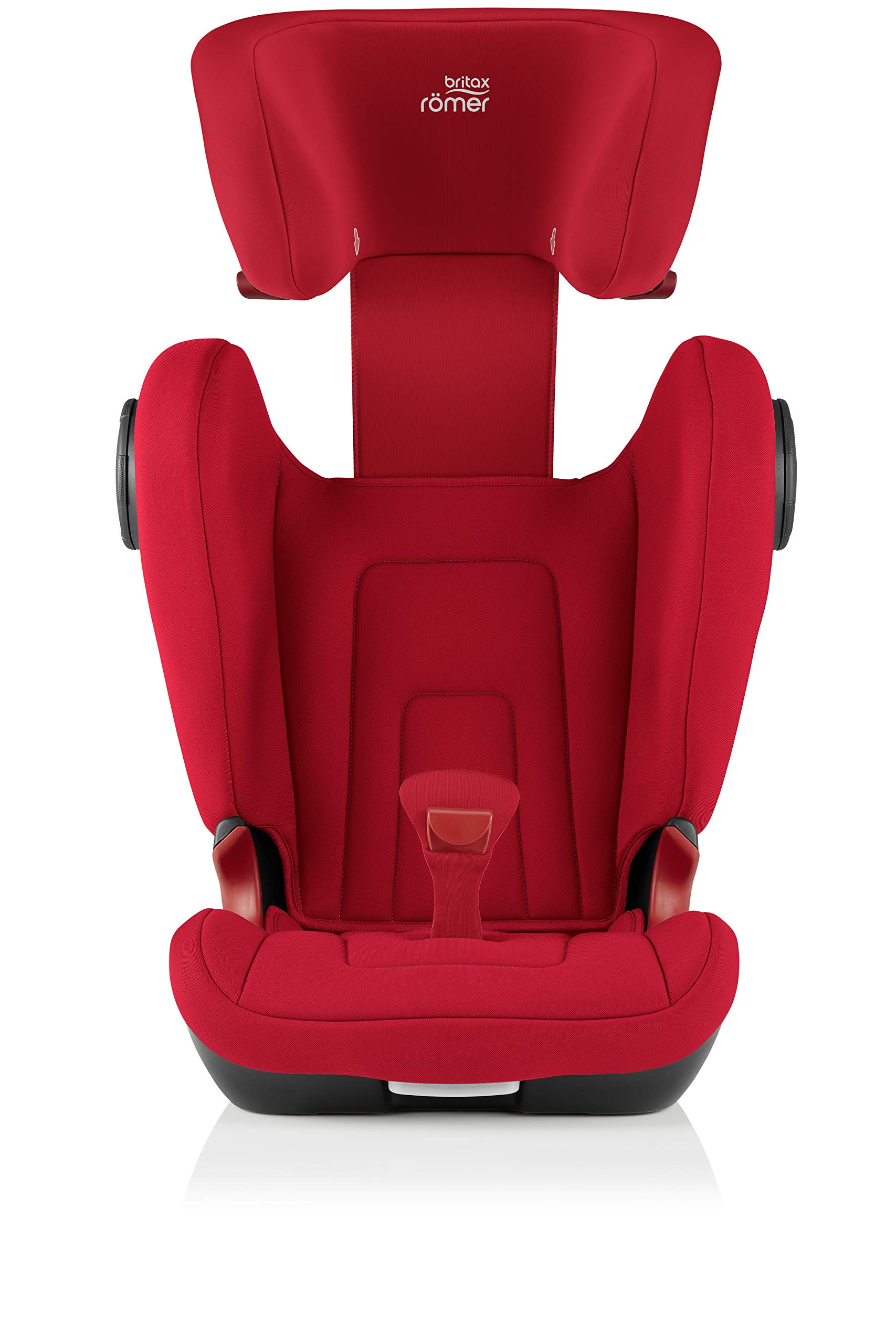 Britax Römer KIDFIX² S Group 2-3 (15-36kg) Car Seat - Fire Red Britax Römer Advanced side impact protection - sict offers superior protection to your child in the event of a side collision. reducing impact forces by minimising the distance between the car and the car seat. Secure guard - helps to protect your child's delicate abdominal area by adding an extra - a 4th - contact point to the 3-point seat belt. High back booster - protects your child in 3 ways: provides head to hip protection; belt guides provide correct positioning of the seat belt and the padded headrest provides safety and comfort. 7
