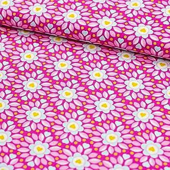 Blumen Baumwolle Druck pink//rosa 150 cm Swafing Serie Julia