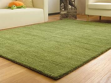 Teppich grün  Gabbeh Teppich Nomade - Handarbeit aus 100% Schurwolle - grün ...