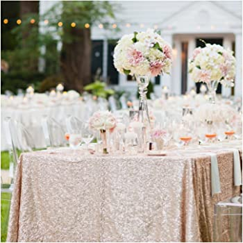 ShinyBeauty Shining champagne-Sequin Tablecloth(More Color Options)