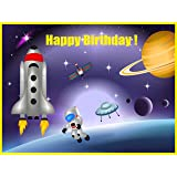 untumble space theme birthday party banner- Multi color