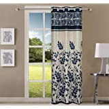 Queenzliving Marvela Curtain, Door 7 feet- Pack of 1, Royal Blue