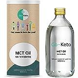 Go-Keto MCT Aceite, 500 ml | Aceite MCT C8/10 prémium, 100% de aceite de coco sin aceite de palma | Perfecto para la dieta ce