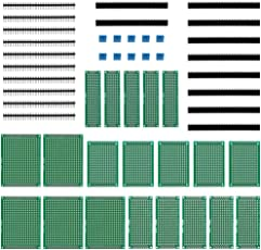 Anpro 50Stk leiterplatte Kit 20Stk PCB Universal Board 5x7 4x6 3x7 2x8CM Double Side Lochrasterplatte Lochrasterplatine Leiterplatte Platine 10 Screw Terminal 20 Kopfleiste