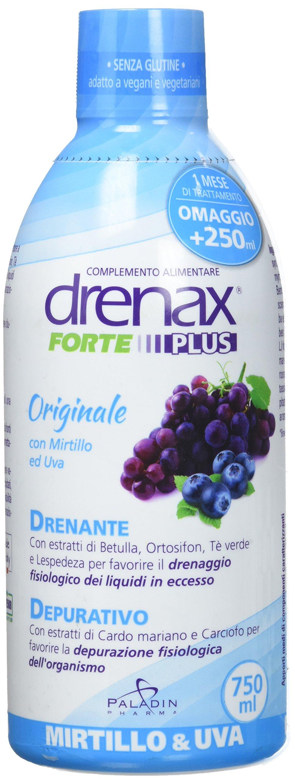 DRENAX FORTE MIRTILLO 750ML - Integratore drenante 1 spesavip