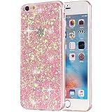 Movoja Glitzer-Hülle passend für Apple iPhone 6 6S TPU Glitzer-Hülle – Pailletten Glitzer Schutzhülle Case Crystal Case…