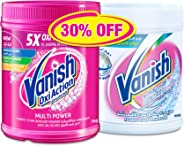 Vanish Stain Remover Oxi Action Powder for Colours 1kg + Whites 900g
