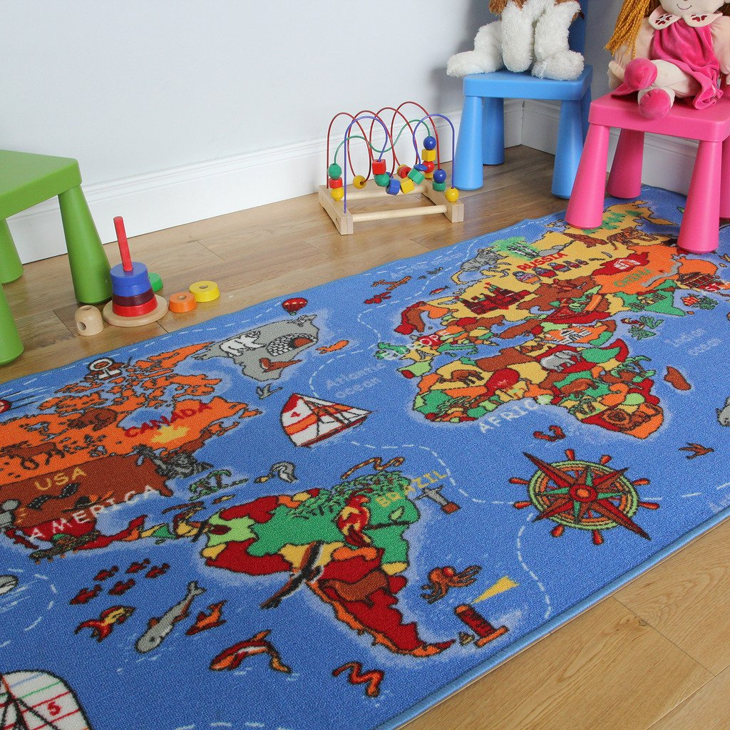 educational fun colourful world map countries u0026 oceans kids rugs