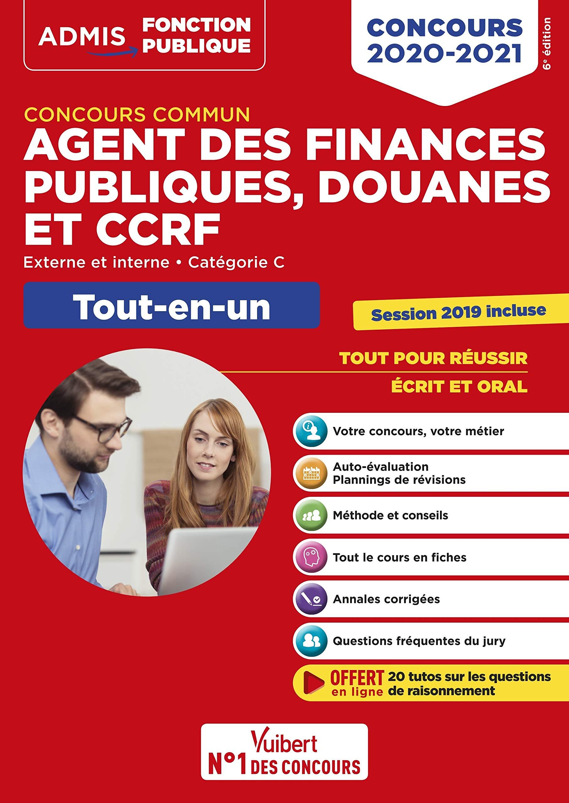 Concours commun Agent des finances publiques, douanes et CCRF - Catégorie C - Tout-en-un - Externe et interne - 2020-2021