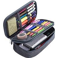 Yerdol Trousse Étui à crayons de grande capacité, sac en toile à 3 grilles, étui à crayons multifonctionnel, sac de…