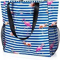 Comius Sharp Strandtasche Damen, Shopper Schultertasche Canvas Beach Bag, Große Strandtasche, Umhängetaschen mit…