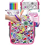 Purple Ladybug Colour Your Own Messenger Bag For Girls with 10 Bright Markers Plus a Bonus Pencil Case! Fun Arts and…