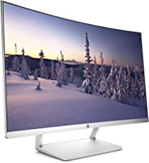 HP Z4N75AA 27-inch Curved LED Monitor (White)
