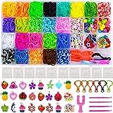 Lrikas Caja Pulseras Gomas Bandas de Silicona para Hacer Pulseras De Colores Loom Kit para Pulseras