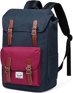 097011f90c195 VASCHY Schulrucksack Jugendliche Rucksäcke Lässiger Frauen Rucksack Vintage  Rucksack für 15