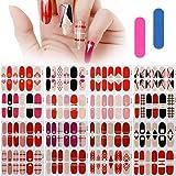 MWOOT 16 Fogli Unghie Adesivi Decalcomanie,Autoadesivo Nail Art Stickers Decals, Adesivo Smalto per Unghie Manicure le Punte