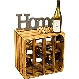 Altes Land Wijnrek voor maximaal 16 flessen, 40 x 40 x 27 cm, Kistenkolli Altes Land wijnrek, flessenrek