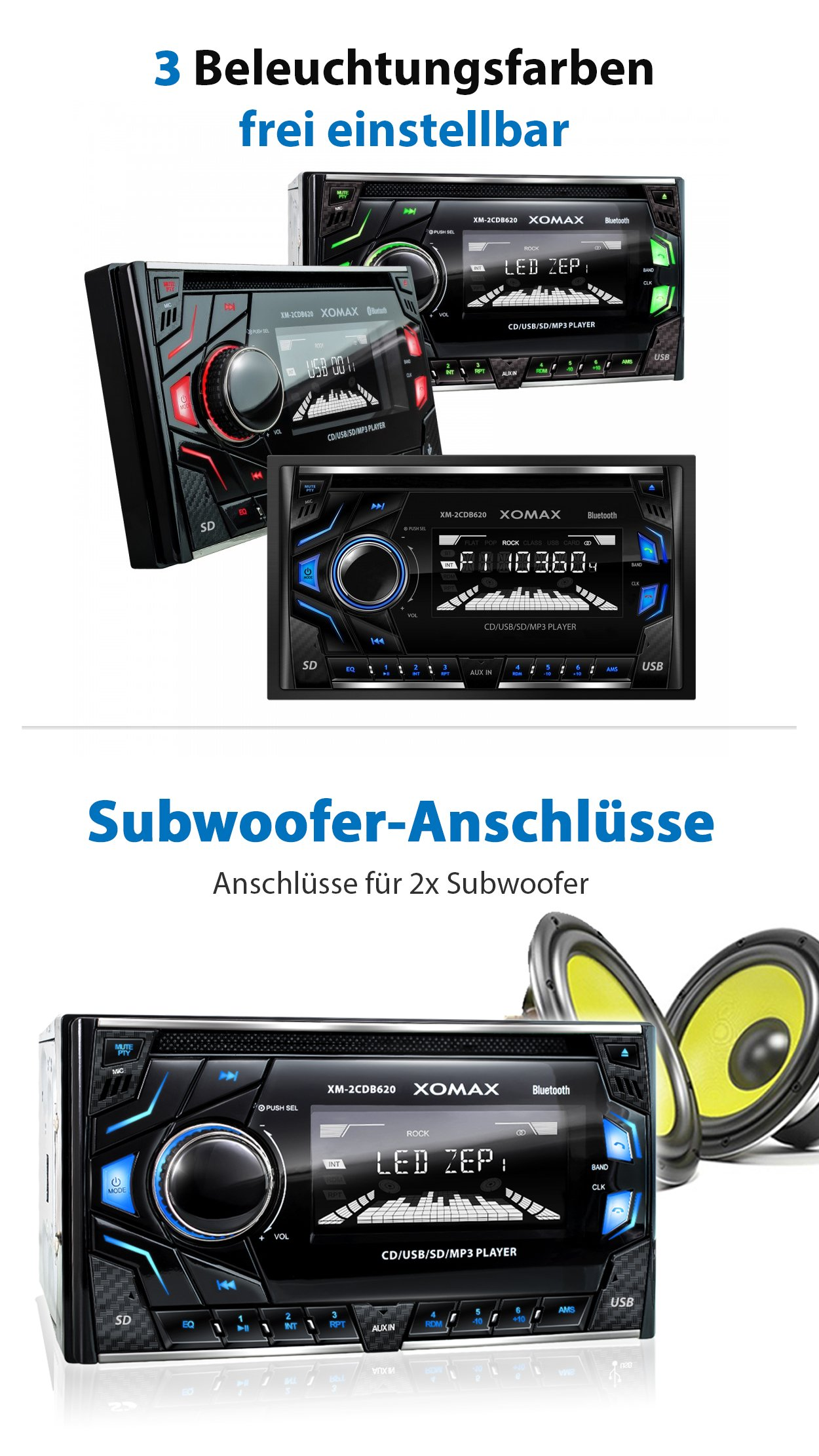 Dual Car Cd Player With Auxiliary Plug And Usb Port