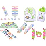 Toddylon Baby Products All New Born Combo Essential Items in Single Pack (Multicolour, 0-6 Months) (Green)