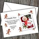 10 Personalised Christmas Photo Thank You Cards (SBD 114) Free UK DELIVERY