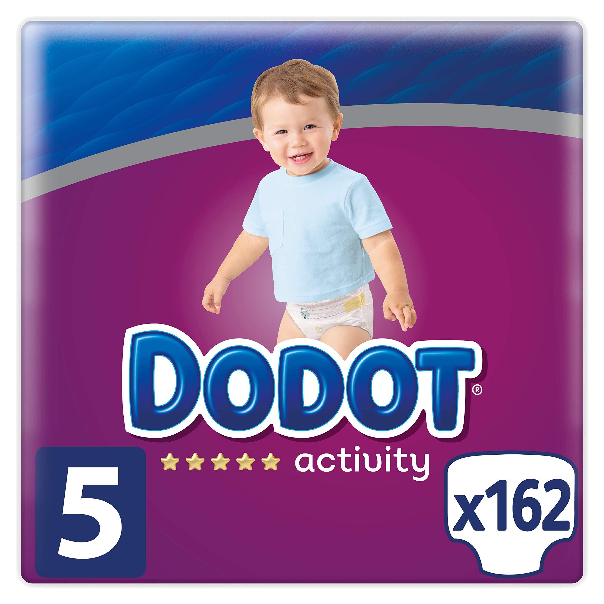 Dodot Activity – Pañales Talla 5 (11-16kg), 162 Pañales