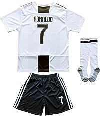 MFG 2018/2019 Cristiano Ronaldo Heim CR7 Juve Kinder Trikot Hose und Socken Kindergrößen