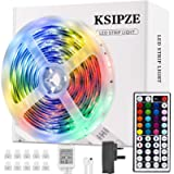 LED Strip Lights, Ksipze 5m RGB LED Light Strip with Remote Colour Changing SMD 5050 LED Room Lights for TV Kitchen Home…