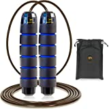Skipping Rope Adult Women Men - Adjustable Steel Skipping Rope for Kids - Tangle Free Jump Rope - Non Slip Foam Handles & Rap