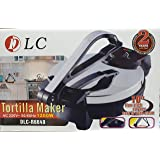 The electric tortilla maker comes with a ten-inch timer