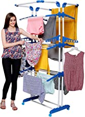BRANCO Heavy Duty 3 Poll - 3 Layer - Cloth Dryer Stand - King Jumbo (Genuine) (7 Year Warranty*Made in India) - BRC-750