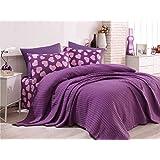 طقم سرير ماركة انلورا دبل بيكيه مكون من 4 قطع ولون كستنائي- 162ELR6216
