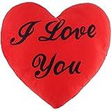 """Oreiller en forme de coeur rouge avec les mots """"I love you"""" gravés - cadeau romantique idéal pour la Saint-Valentin"""