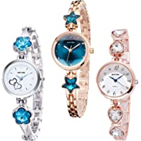 DREAM VILLA Metal Strap Analogue Women's Watch - Pack of 3