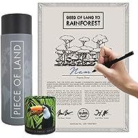 happylandgifts® Edition 2020-1m² echter Regenwald in Costa-Rica als nachhaltiges Geschenk I Besitzurkunde mit Wunschname…