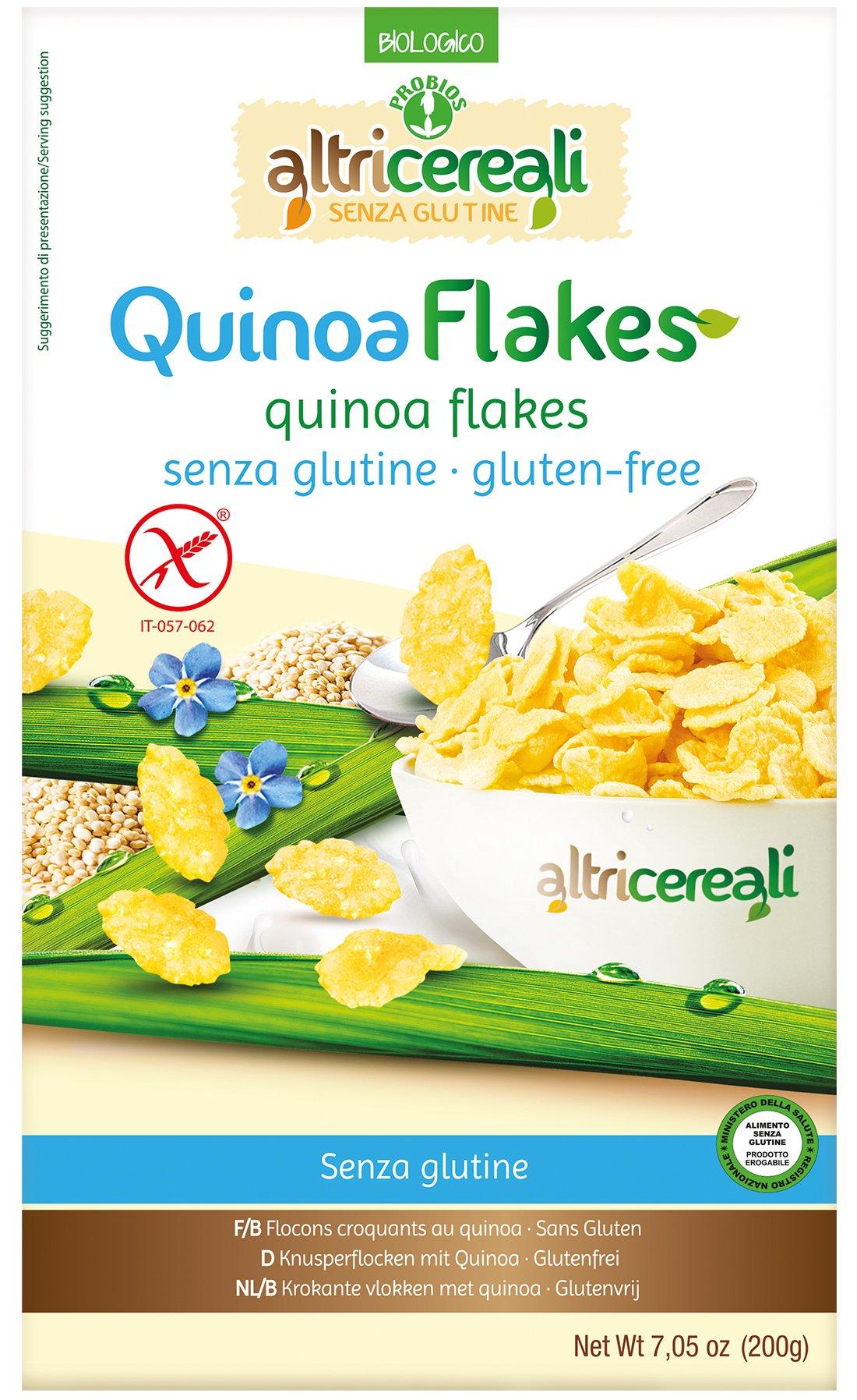 Probios Quinoa Flakes Bio senza Glutine - Pacco da 8 x 200 g 1 spesavip