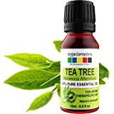 Organix Mantra Tea Tree Essential Oils for Skin, Hair, Face, Acne Care, 100% Pure, Natural and Undiluted Therapeutic Grade Es