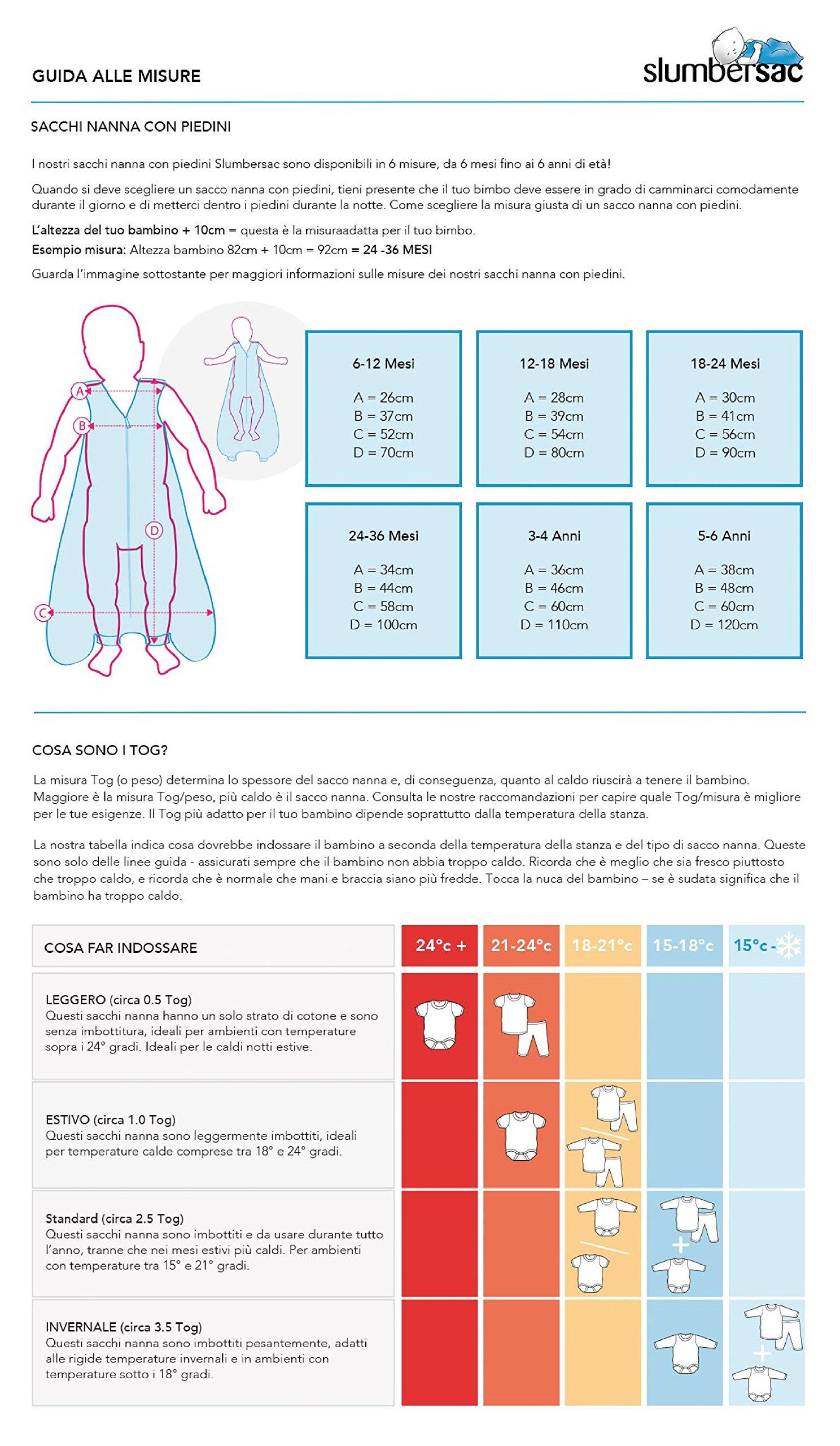 Saco de Dormir con Pies de Verano Slumbersac para Niño aprox. 1 Tog – Búho – 3-4 años