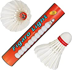 FL-10 Figaro Light Strong Feather Badminton Shuttlecocks (Pack of Ten).